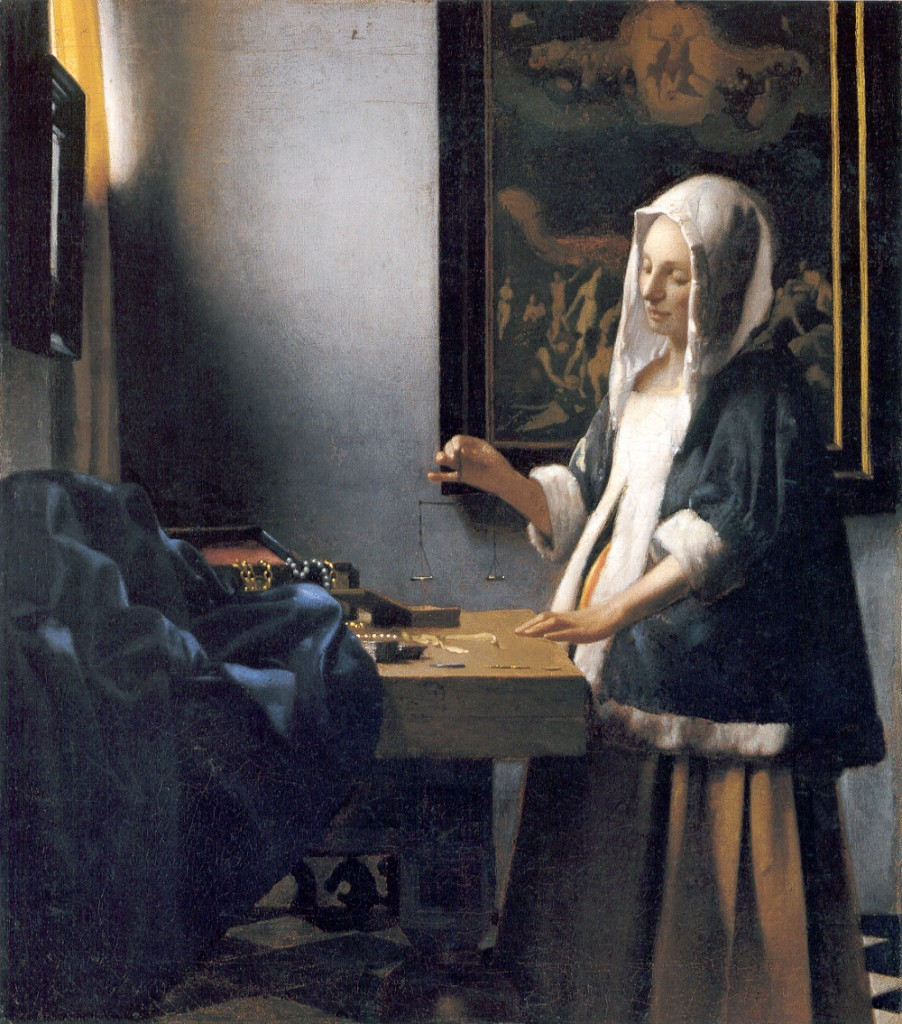 Johannes Vermeer, De Paarlenweegster, 1663, National Gallery, Washington